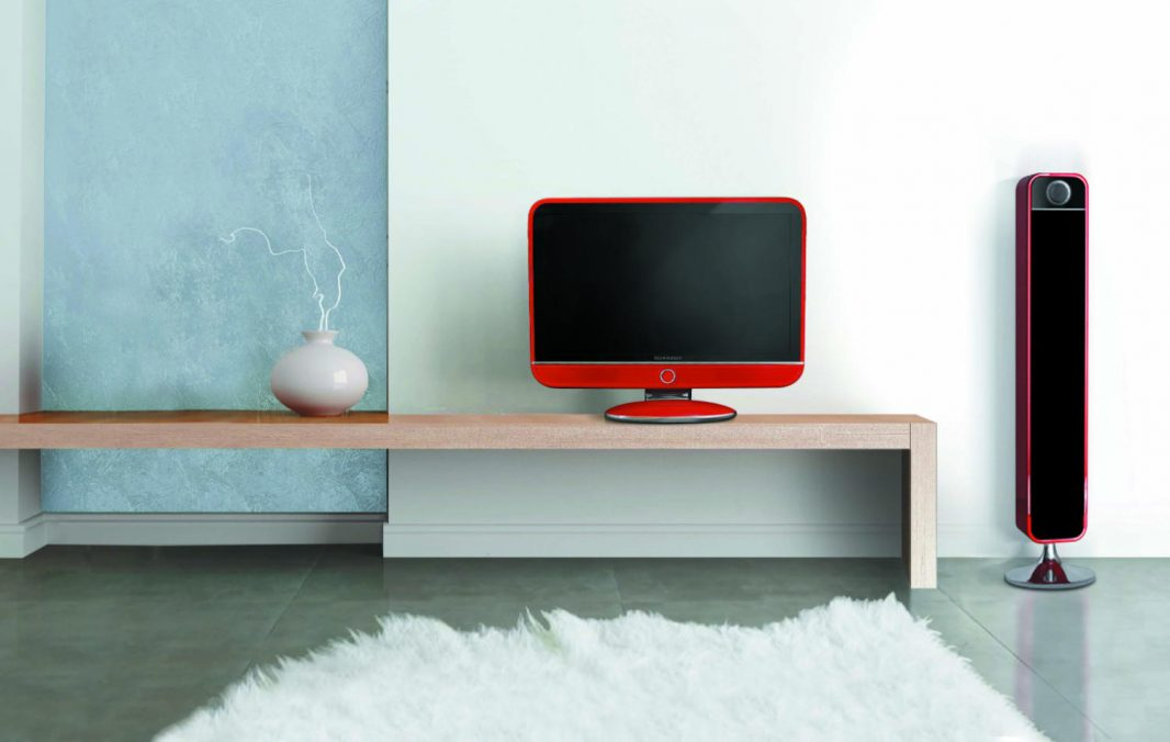 Vintage red Feeling's TV set - Schneider