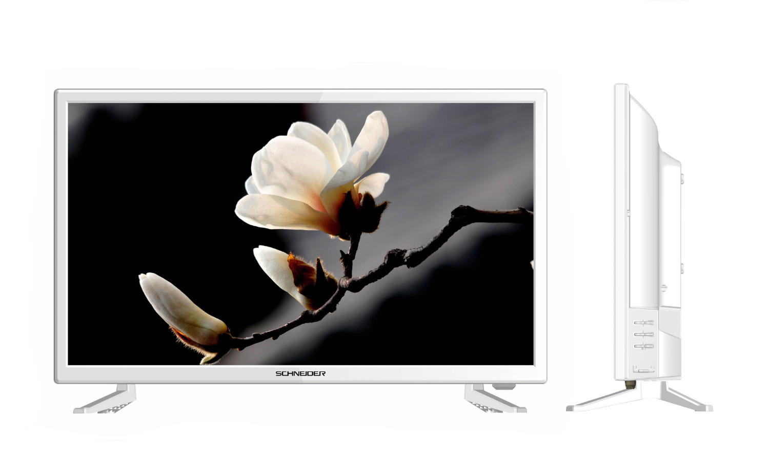 "LED 24"" TV -61 cm white - Schneider"