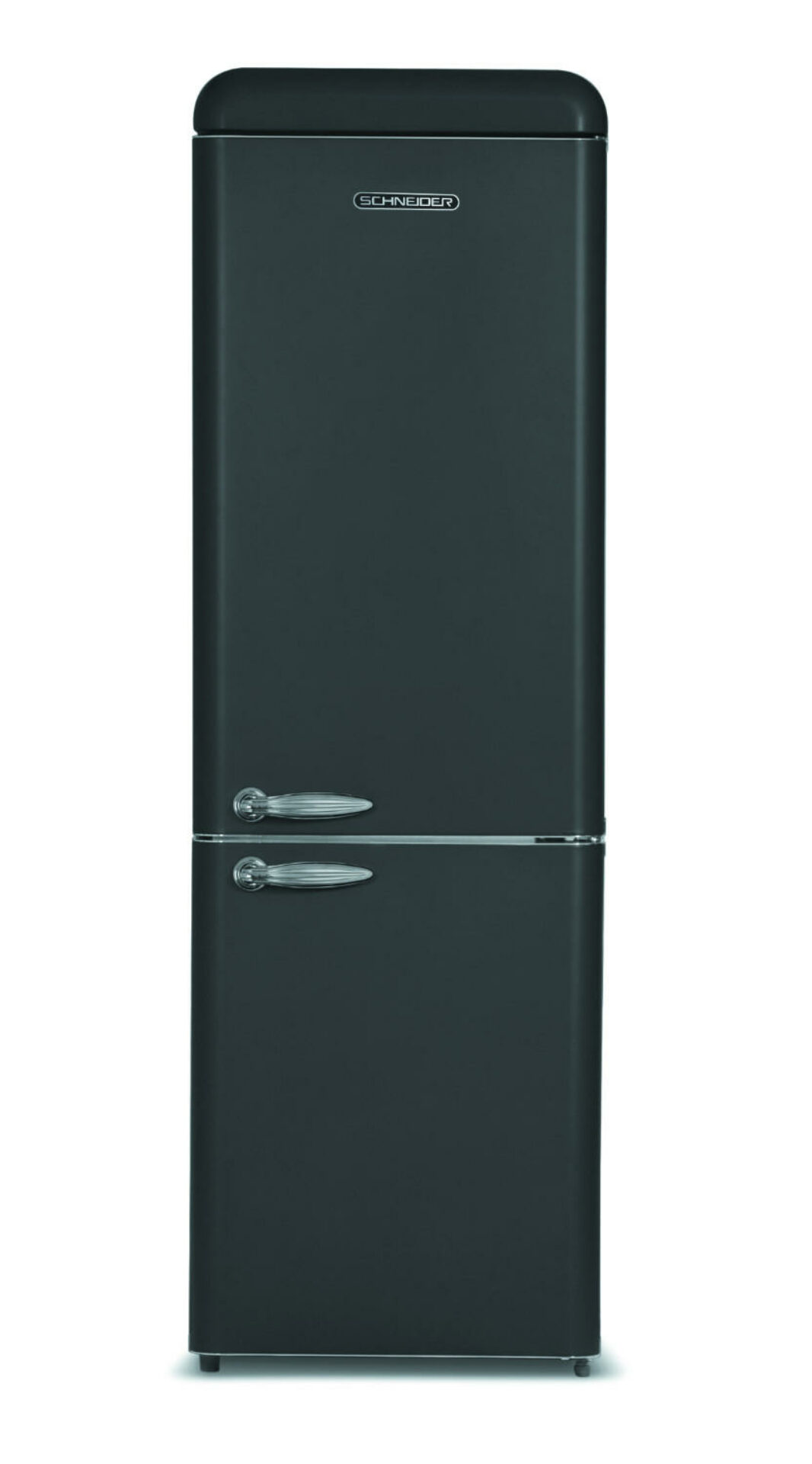 Combined refrigerator in vintage black matte with No Frost technology - Schneider