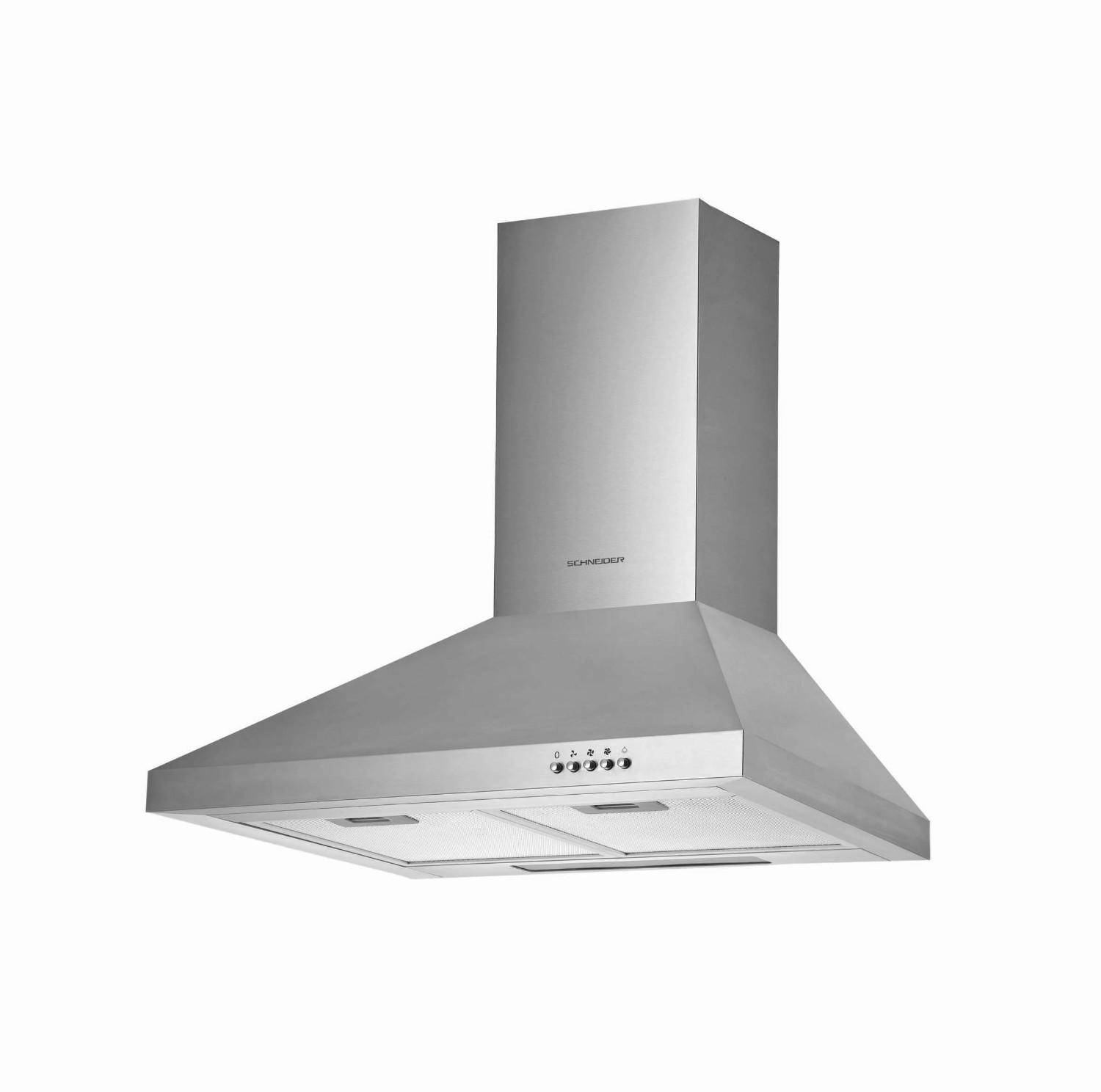 Pyramid wall-mounted extraction hood 60 cm - Schneider