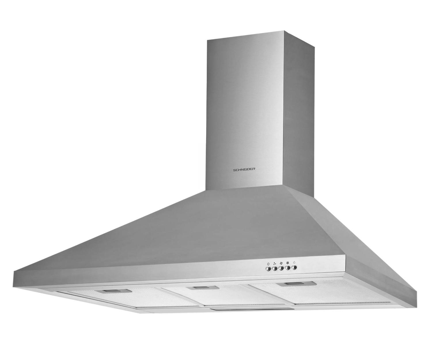 Pyramid wall-mounted extraction hood 90 cm - Schneider