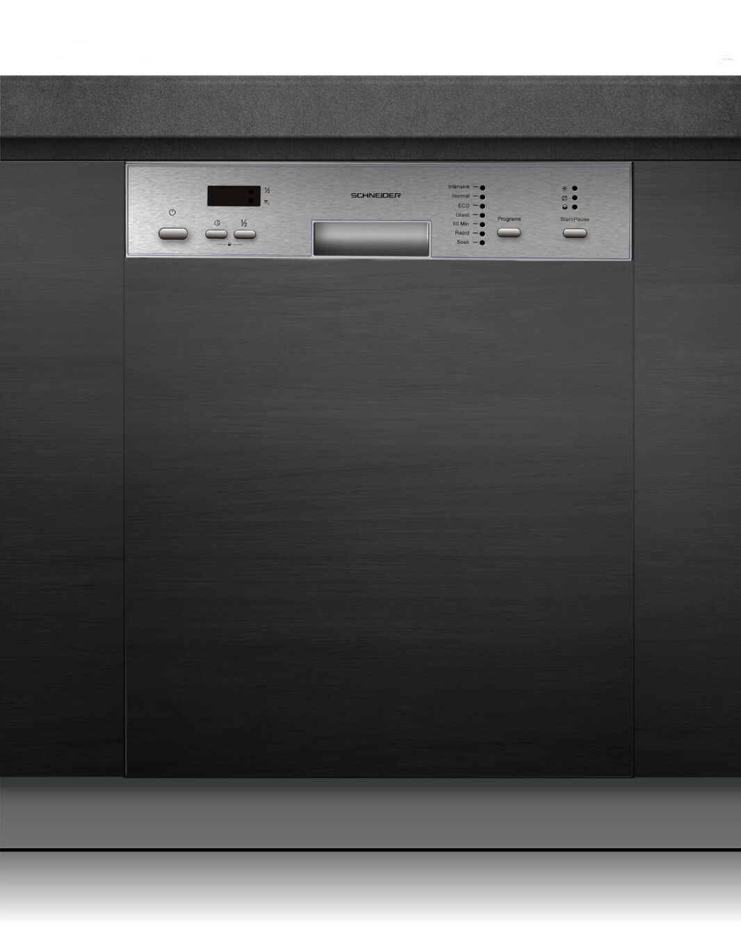 Built-in dishwasher 60 cm stainless steel - Schneider