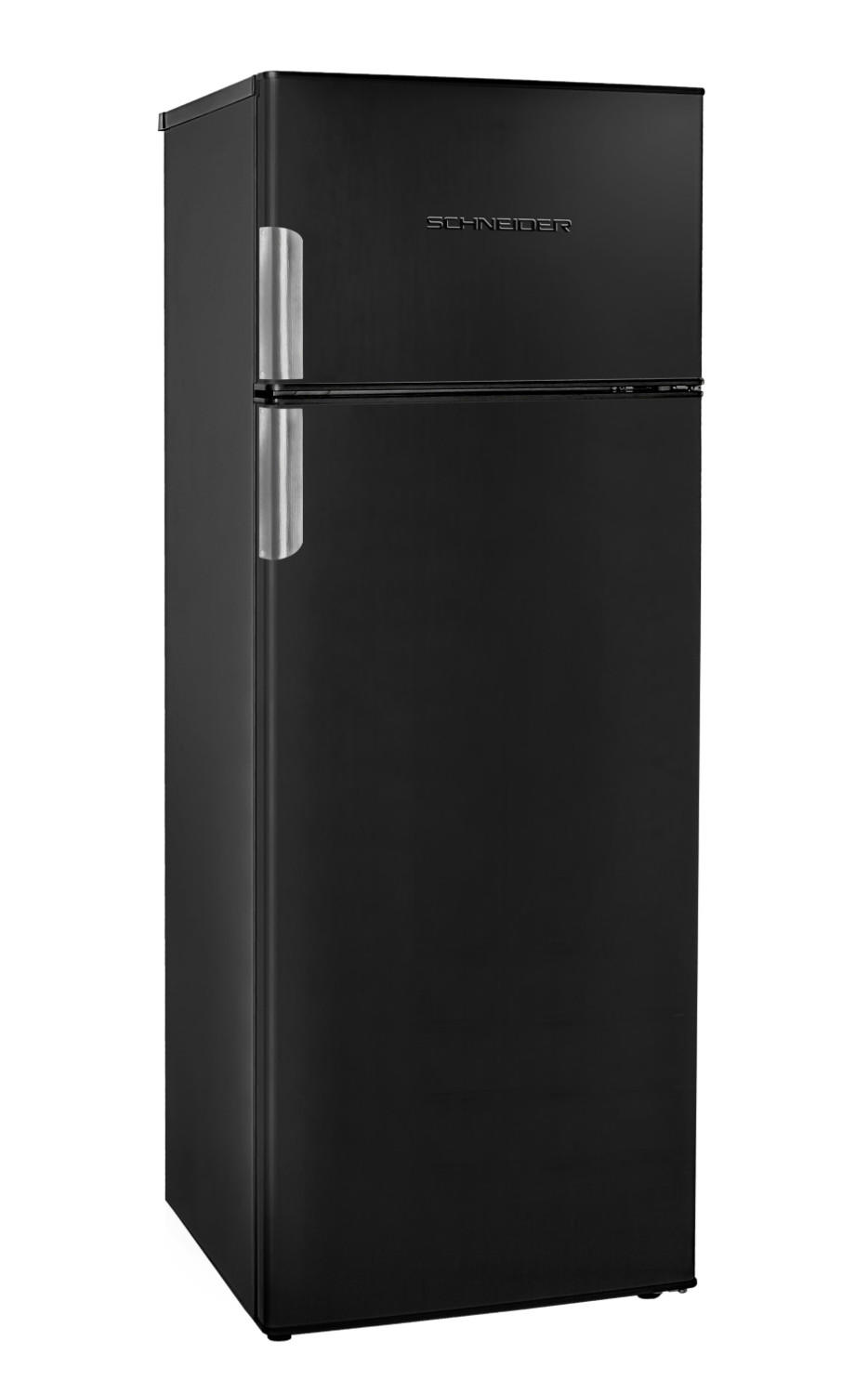 Refrigerator with 2 doors in black matte 208 L - Schneider