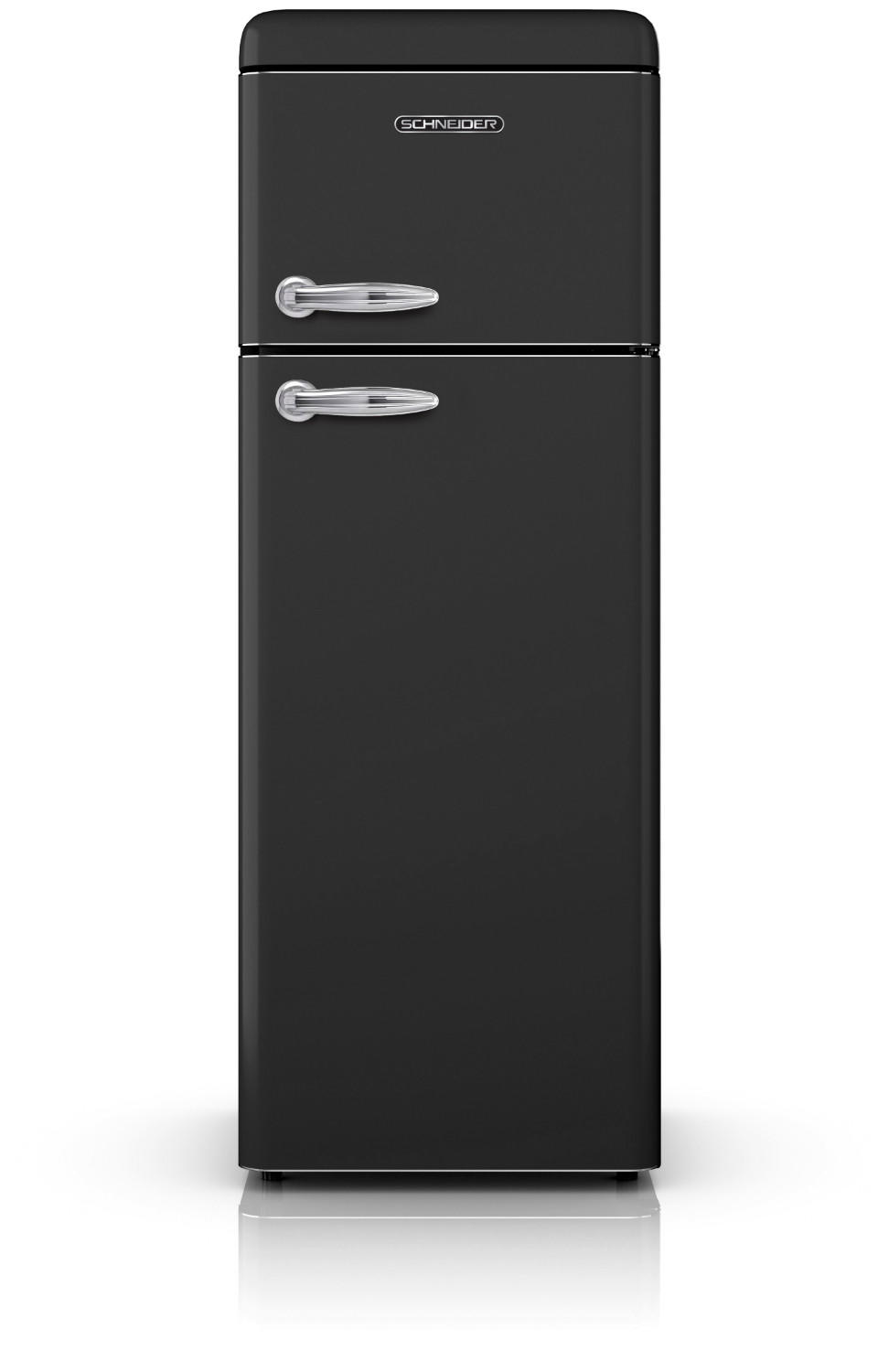 Vintage refrigerator with 2 doors in black 208L - Schneider