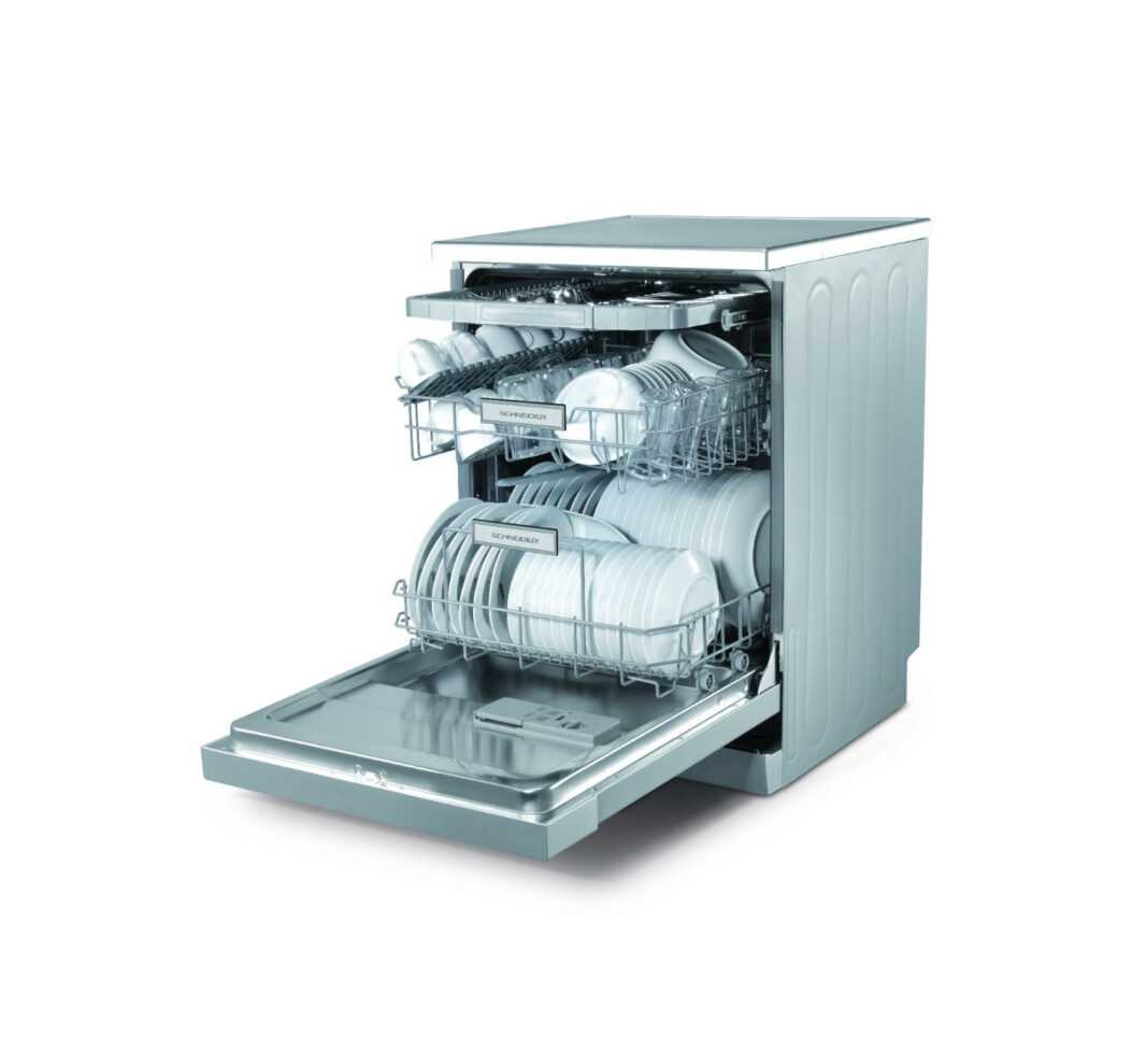 White dishwasher with 14 place settings - Schneider